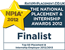 [2012] Top 50 Placement & Internship Employer (Finalist)
